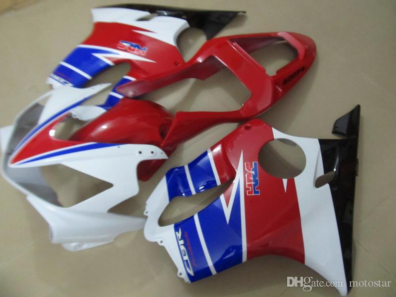 Moldeado por inyección kit carenado de plástico para Honda CBR600 F4i 01 02 03 rojas carenados azul blanco conjunto CBR600F4i 2001-2003 OT09