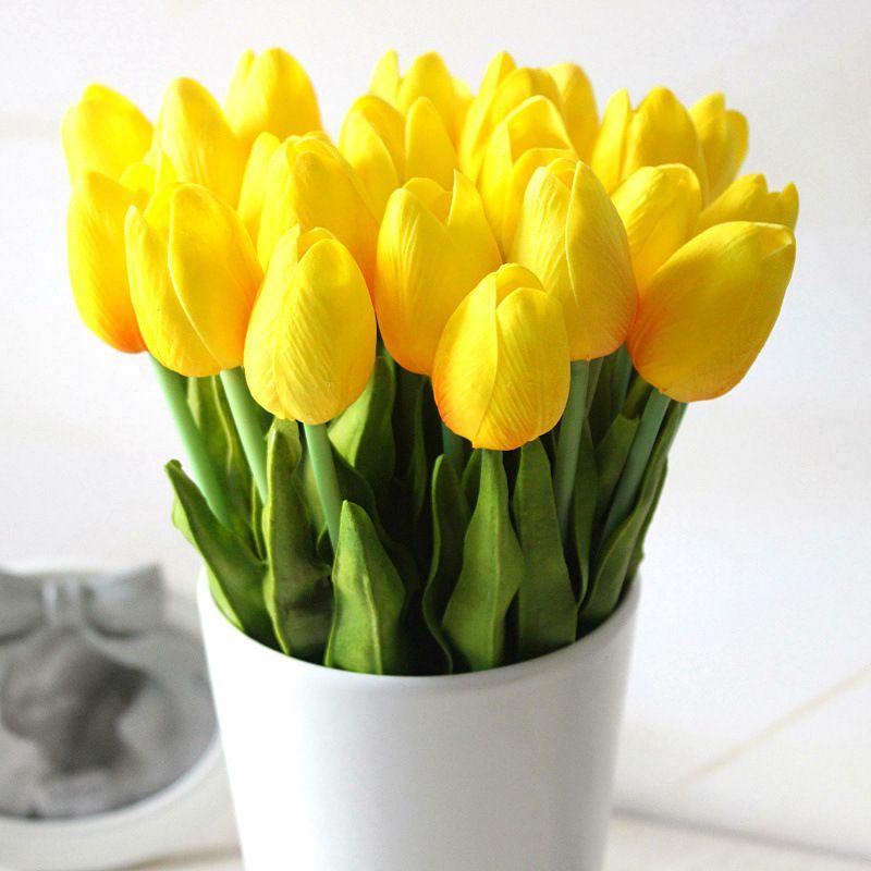 Künstliche Real Touch PU Tulpen Blume Single Stem Bouquet Gefälschte Blumen Hochzeit Home Office Tisch Dekor K9035