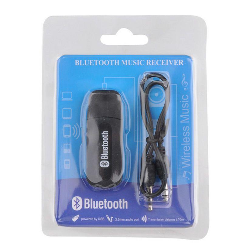 المحمولة usb بلوتوث ستيريو الموسيقى المتلقي محول اللاسلكي سيارة الصوت 3.5 ملليمتر استقبال بلوتوث دونغل ل mp3 المتكلم