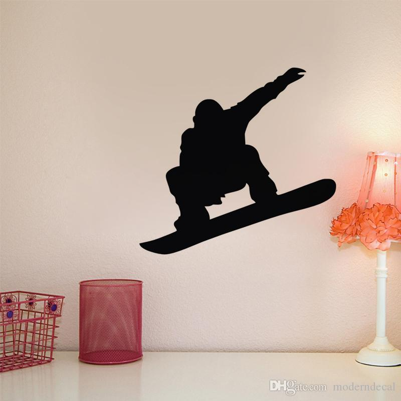 Snowboard Wall Decals Vinyl Adhesive Stickers Nursery Home Decor Wall Stickers Sports Club Art Mural