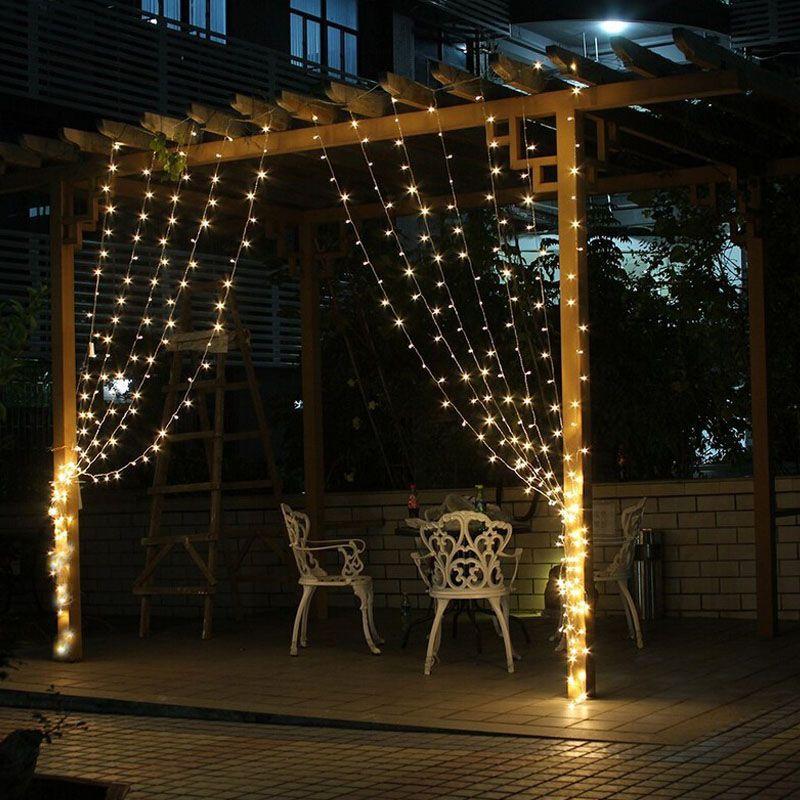 Tenda Luci Luci di Natale 3 * 1m 3 * 2m 3 * 3m ha condotto le luci di Natale della lampada flash colorato Fata Wedding Decor