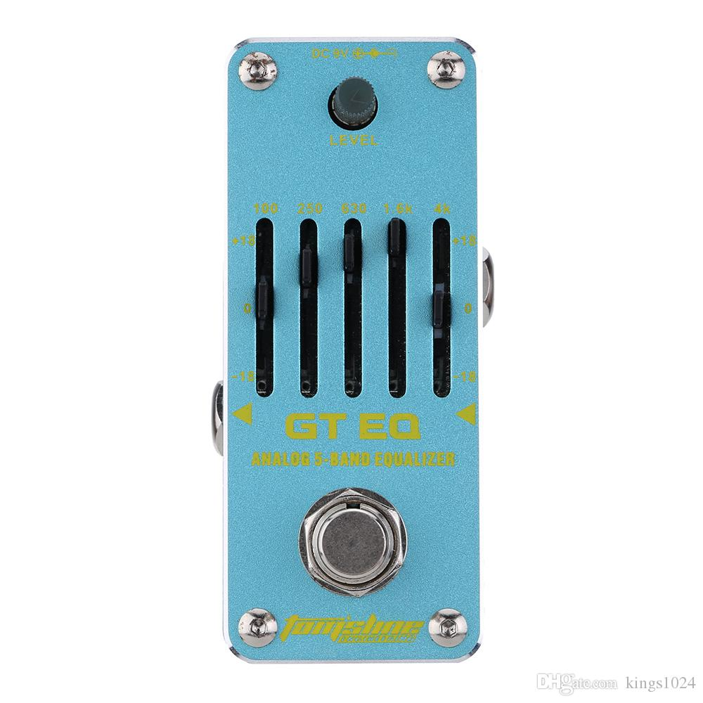 AROMA AEG-3 GT EQ Analog 5-Band Equalizer Electric Guitar Effect Pedal Mini Single Effect with True Bypass acoustic guitar pedals