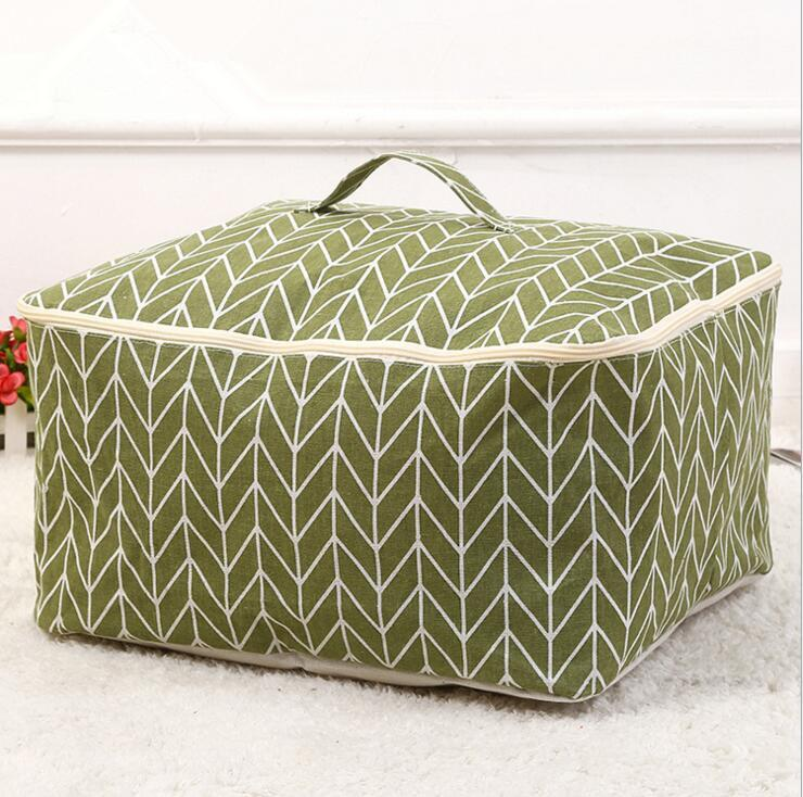 2019 Larger Capacity Quilt Storage Bag Cotton Linen Quilt Bags Clothes Sorting Bags Soft Storage Box Blanket And Duvet Storage Bag From Ldd2016 9 12