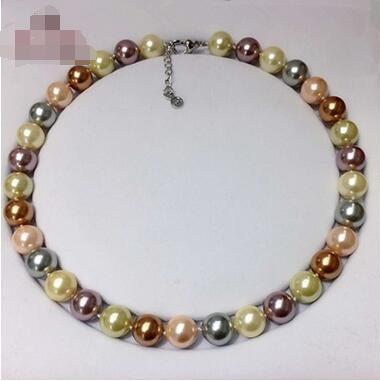 Collana di perle naturali a conchiglia profonda Collana di perle positiva a cerchio multicolor Collana di perle multicolore