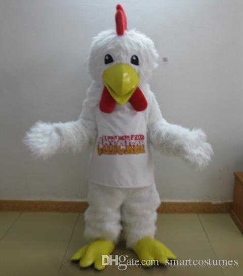 SW0409 leve e fácil de usar peludo branco pintinho mascote traje para o adulto traje da mascote da galinha