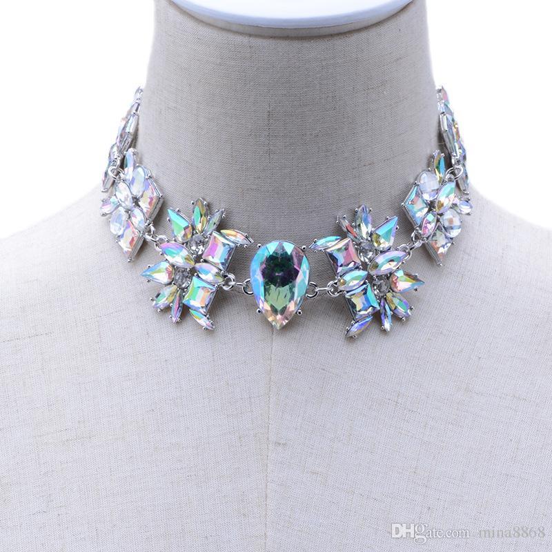 Großhandel Luxus Elegante Kristall Halsband Halsband Halskette Für ...