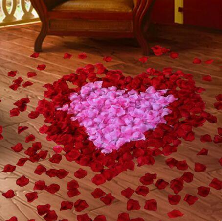 결혼식 장식 장미 꽃잎 인공 장미 결혼식 호의 도매 결혼 결혼 침대 장식