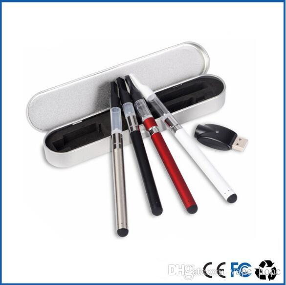 USA hot sale mod vaping suppliers ce3 kit metal tin can package with 0.5ml 1ml atomizer cartridge for bud touch vaporizer pen