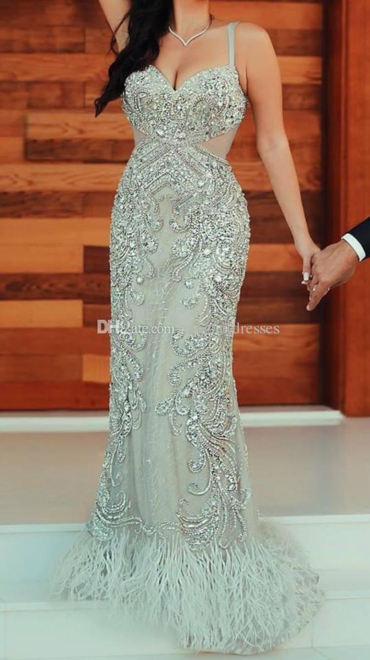 2021 Dernier cristal perlé Parti sexy Sexy Bal Robes De Soirée Robe de soirée Fabriqué sur mesure