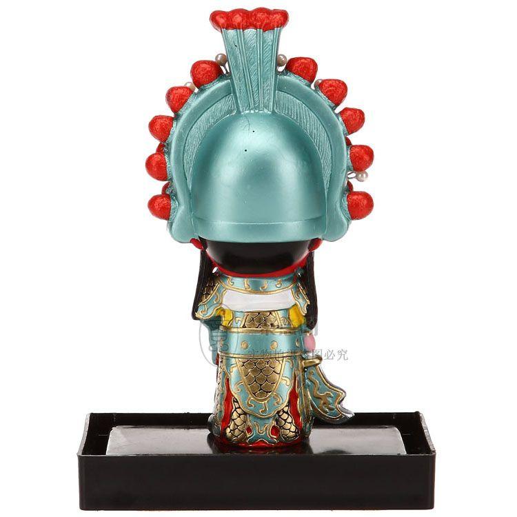 الكرتون العمودي تمثال الحلي التقليدية الصين ثلاث شخصيات من الأعمال غوان يو في الخارج لإرسال الهدايا للأجانب