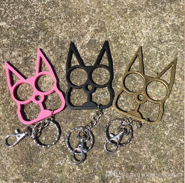 llavero gato acero inoxidable anillo anti-cuerpo defensa disparador creativo punzones moda mejor regalo protección equipo de defensa anillo 40 g