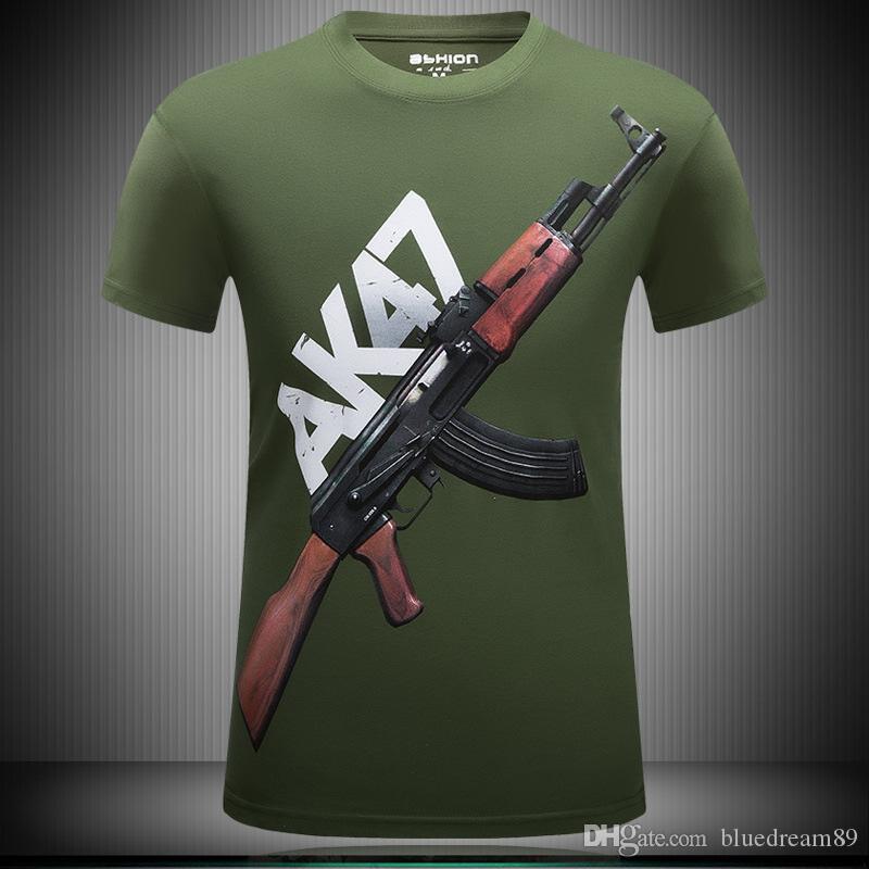 Summer mens fashion t shirt militia short-sleeved fat plus size rock band t shirts mens brand guy t shirt printed 3d tee shirts