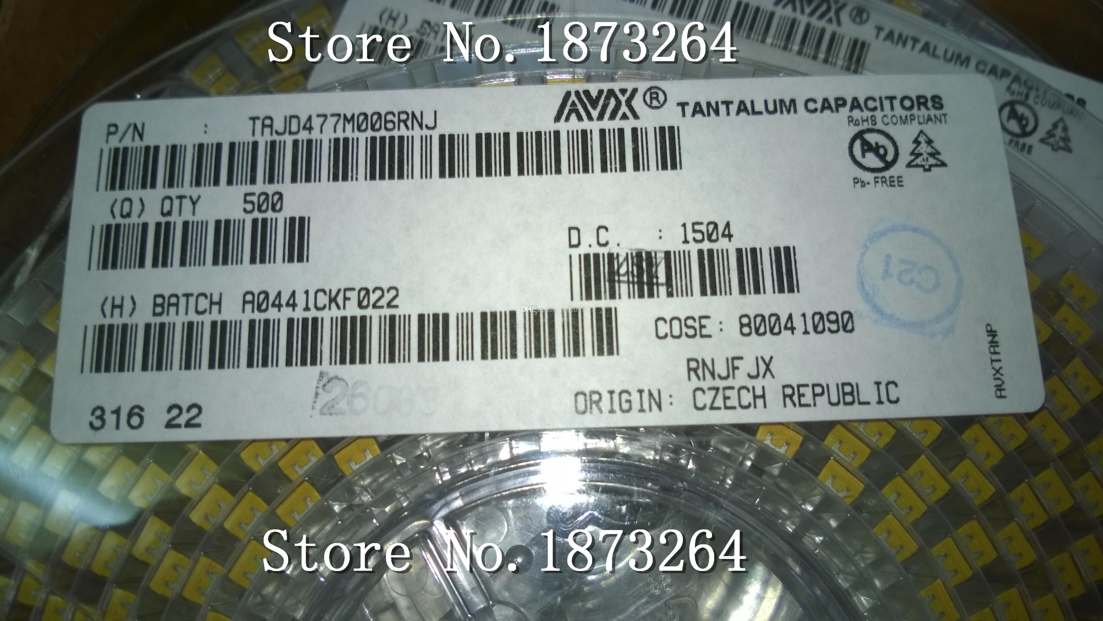 Livraison Gratuite 50PCS / LOT Condensateur Tantale SMD 477 470uF 6.3v D taille TAJD477M006RNJ 7343