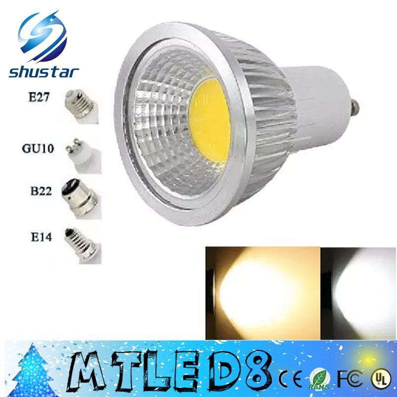 Bright B22//E14//E27//GU10//GU5.3 Dimmable 6W//9W//12W LED COB Spot Light Bulbs Lamp M