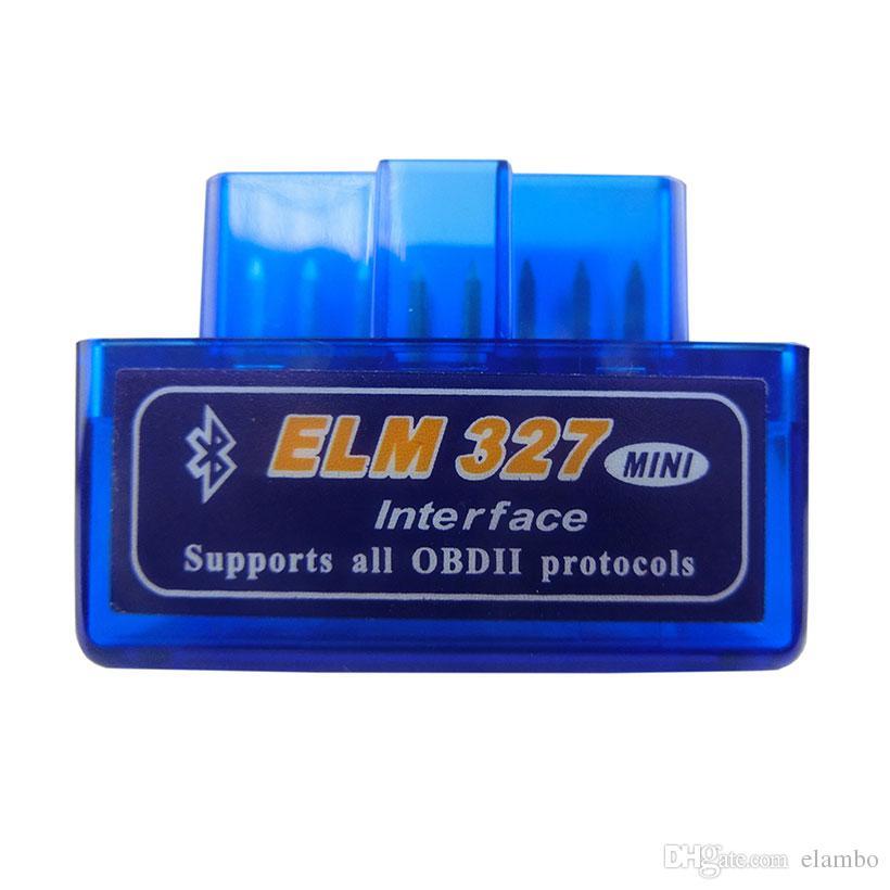 HOT!! OBD mini ELM327 Bluetooth OBD2 V2.1 Auto Scanner OBDII 2 Car ELM 327 Tester Diagnostic Tool for Android Windows Symbian