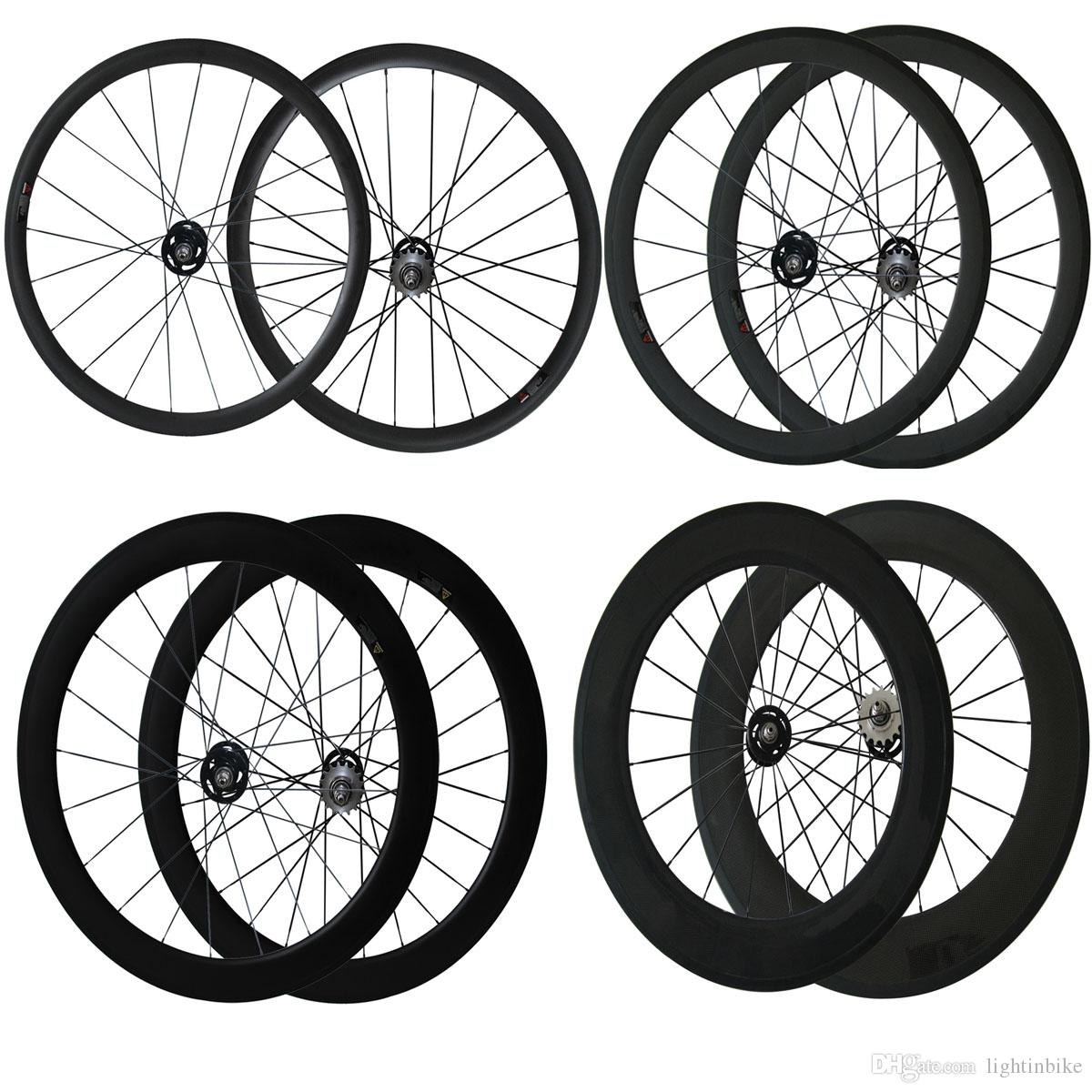 700C Track bike Wheels 24mm 38mm 50mm 60mm 88mm Fix Gear Wheelset Clincher Tubular Fix Gear Wheels Carbon Bike Wheelset for Track Bike