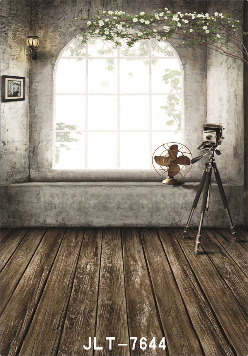 Fleurs d'intérieur plancher en bois 5X7ft caméra fotografica vinyle tissu photographie arrière-plans mariage enfants bébé toile de fond pour studio photo
