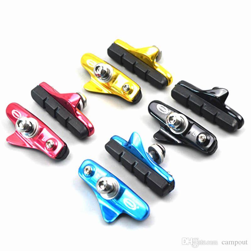 Cycling MTB Mountain Bike Aluminium Alloy Rubber Brake Shoes Road Bicycle Brake Pads For Shiman0 Sram Tertro C-Brake Caliper 2pcs/pair