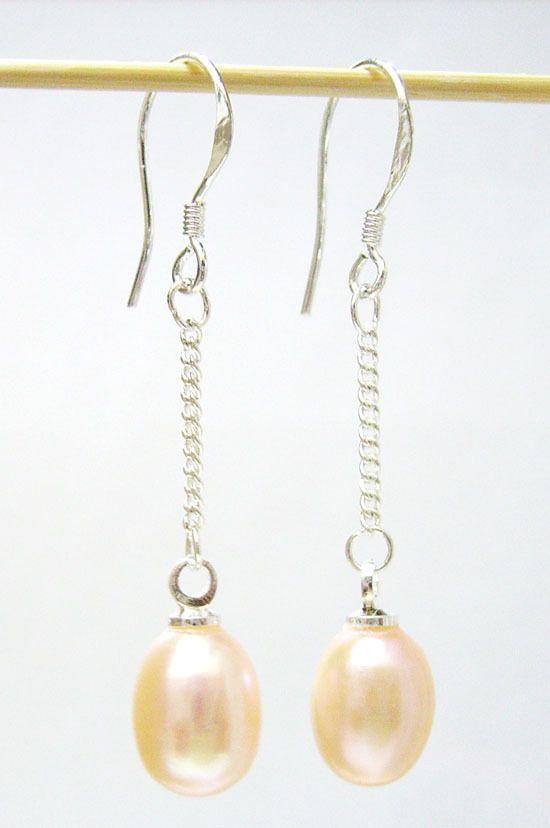 10 вариантов / лота мода жемчужина шарм серьги серебряный крючок для DIY Craft ювелирных изделий подарок розовый PC1