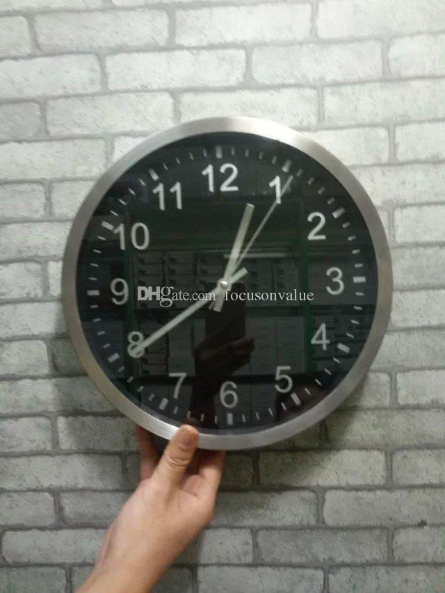 Buy Full Hd 1080p Wifi Clock Ip Camera P2p Round Wall Clock Spy