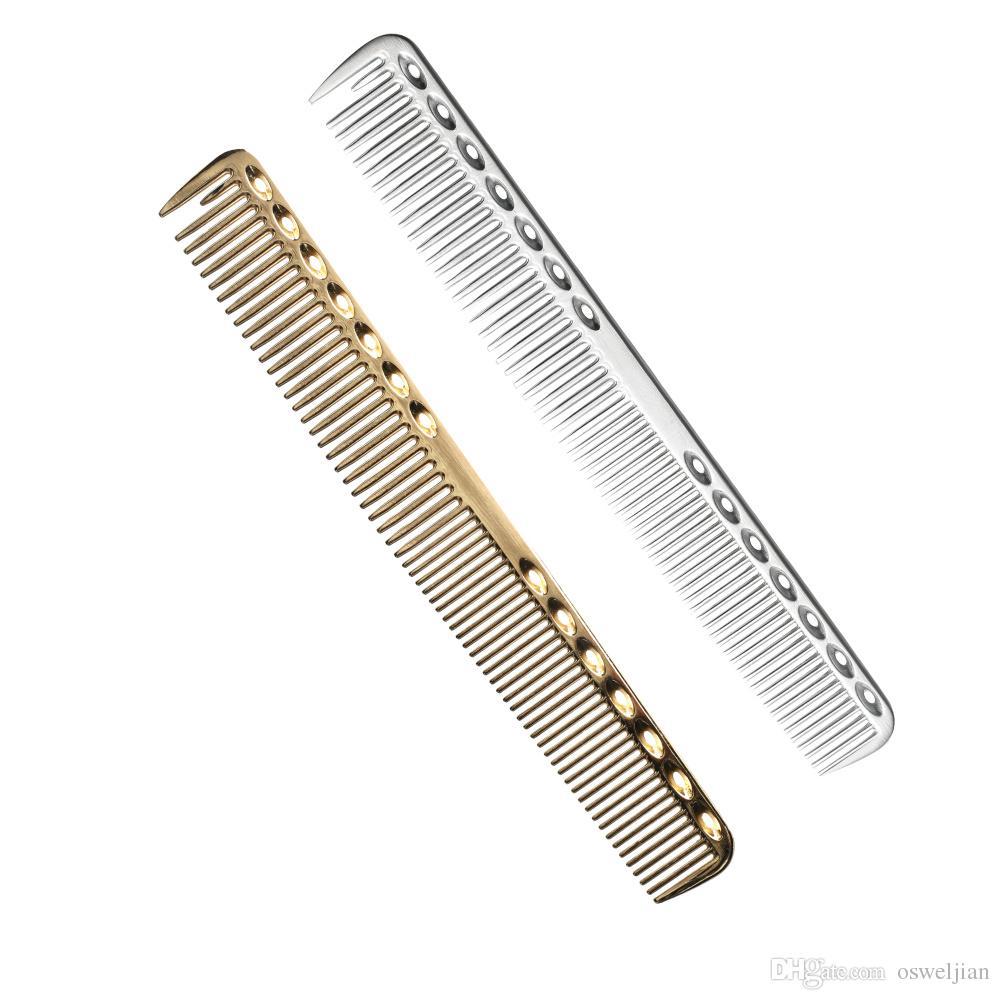 Peigne de coiffure en métal en aluminium de niveau élevé d'espace, peigne de coupe de cheveux de barbiers professionnel, utilisation pour couper les cheveux longs et les cheveux courts