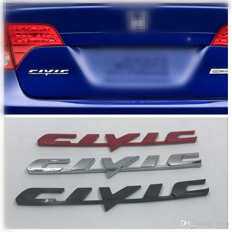 2019 New Style Civic Car Rear Logo Emblem Badge Decal For Honda Civic 2006 2013 3d Nameplate Sticker From Rzap 1105 Dhgatecom