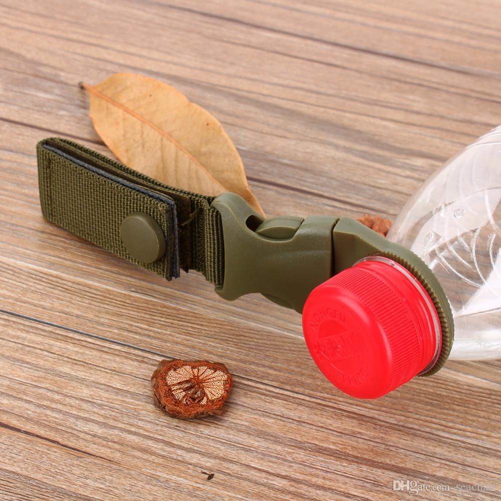 Hot Sale New Outdoor Tactical Nylon Webbing Buckle gancho de água Garrafa Holder Clip EDC Suba Carabiner Belt Backpack Hanger acampamento SC016