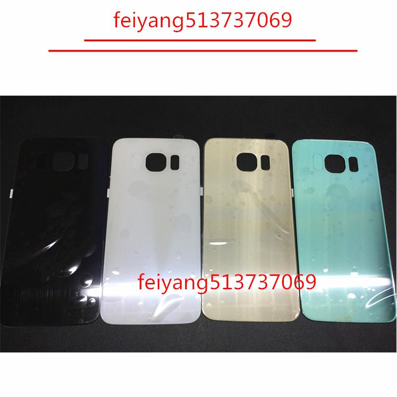 10pcs Original A quality back cover glass Battery Door Back Cover Housing + Adhesive Sticker For Samsung Galaxy S6 g920