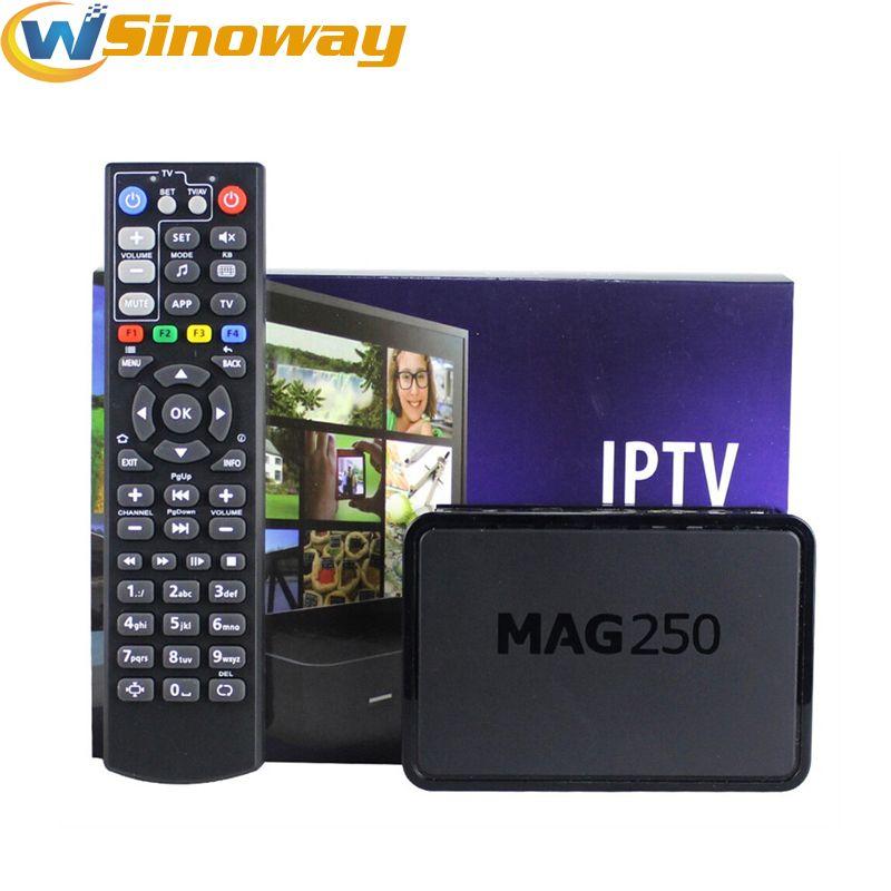 Iptv Set Top Box Mag 250 O mesmo que Mag254 Sistema Linux streaming Iptv STi7105 Caixa de streaming Linux Box TV 256M Media Player MAG250 Linux 2.6.23