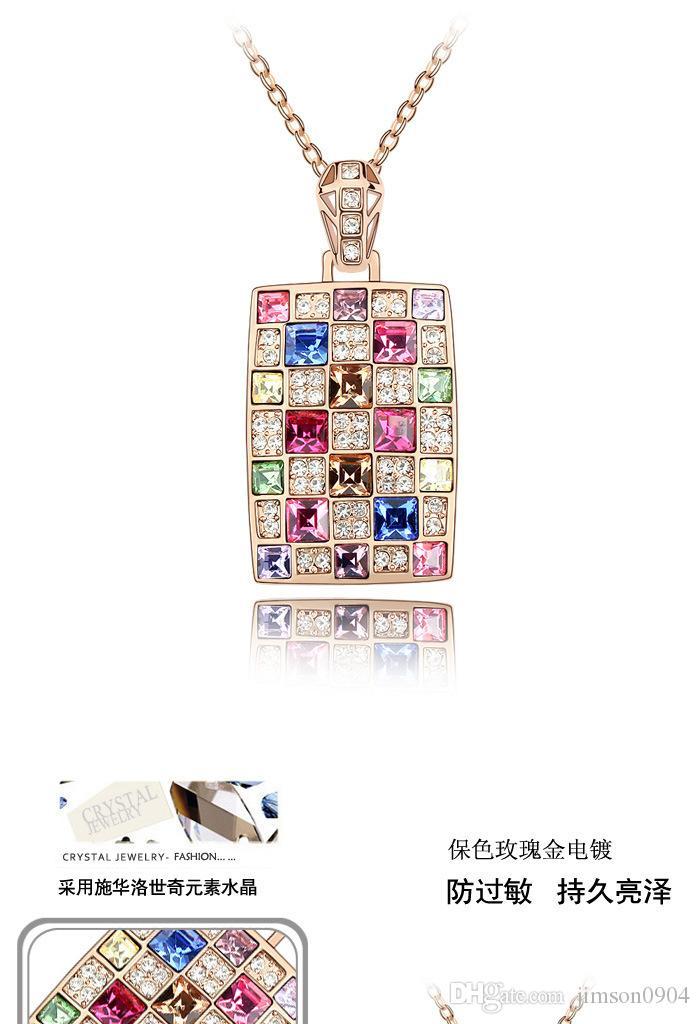Lujoso Abundancia aprendiz  Compre Un Genuino Que Usa SWAROVSKI Elements Crystal Necklace Colgante  Coreano Joyería De Lujo Reina Collar A 12,77 € Del Jimson0904   DHgate.Com