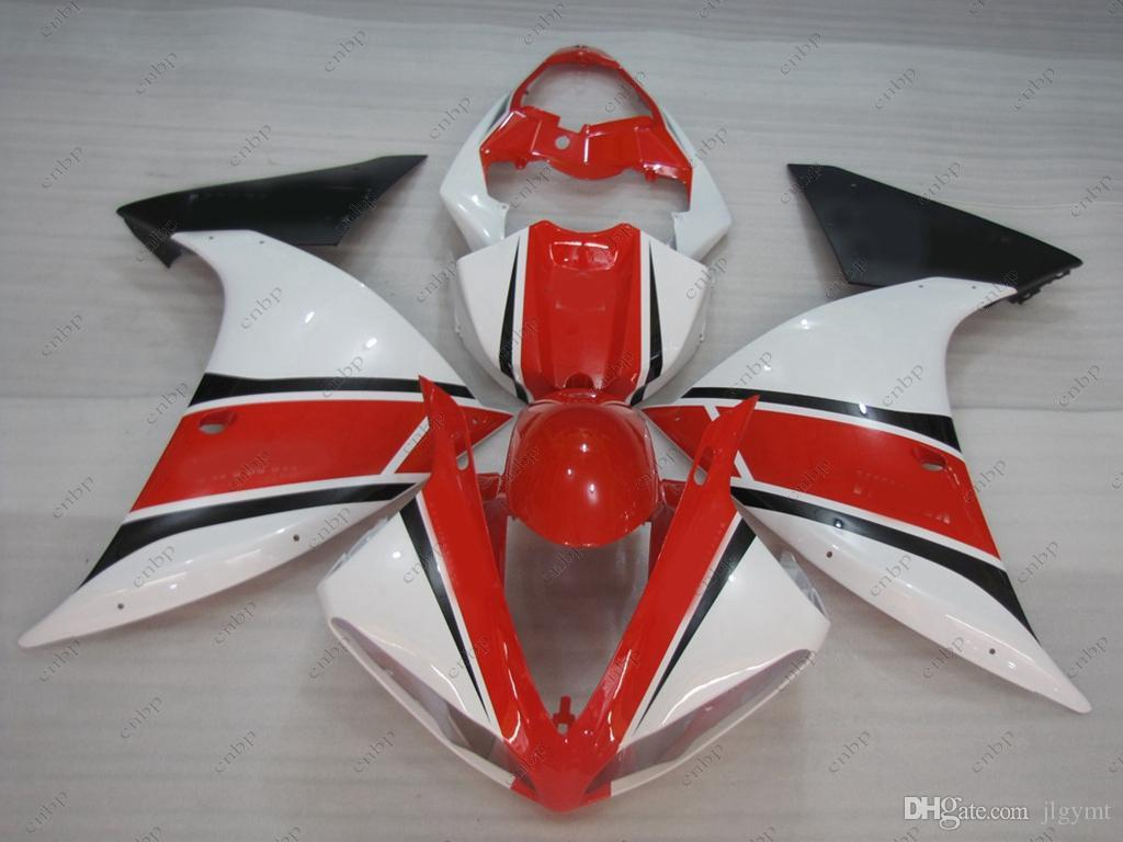Body Kits for YAMAHA YZFR1 10 11 Full Body Kits YZF R1 09 10 Red White ABS Fairing YZFR1 2010 2009 - 2011