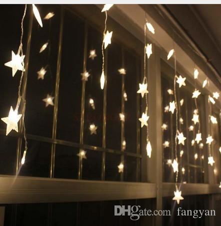 3,5 mt 100 Sterne Multicolor LED String Streifen Festival Urlaub Licht Weihnachten Hochzeit Decoracao Vorhang lampe EU / US / UK / AU Stecker