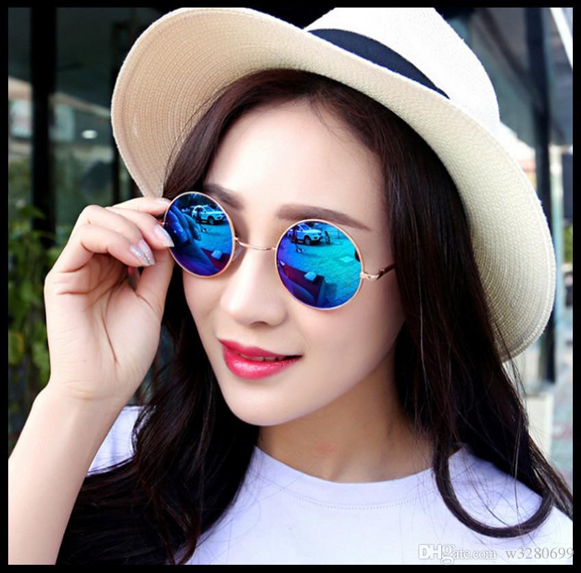 2017 yeni yuvarlak retro taç prens ayna renk ayna filmi reflektör güneş gözlüğü gözlük toptan fabrika doğrudan satış