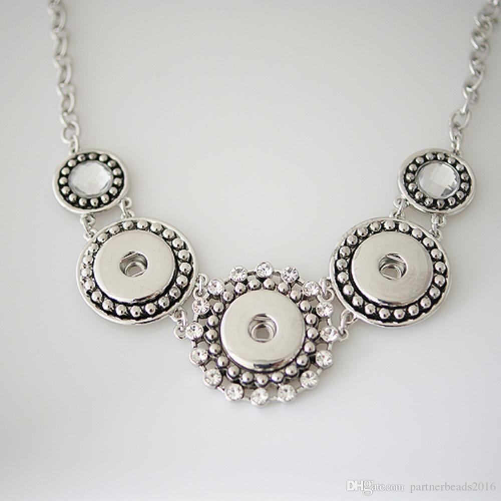 Partnerbeads Snap necklace high quality Snap base jewelry with Chain Fit 20mm Ginger Snap button and Noosa Chunks KB0179