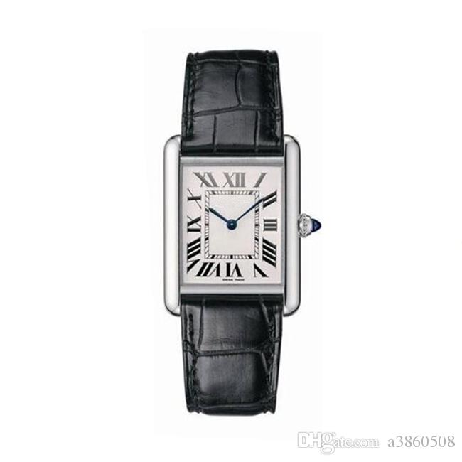 New Women Fashion Dress Relógios rectângulo Casual Leather Strap Relógio Feminino Lady Quartz Relógio de pulso