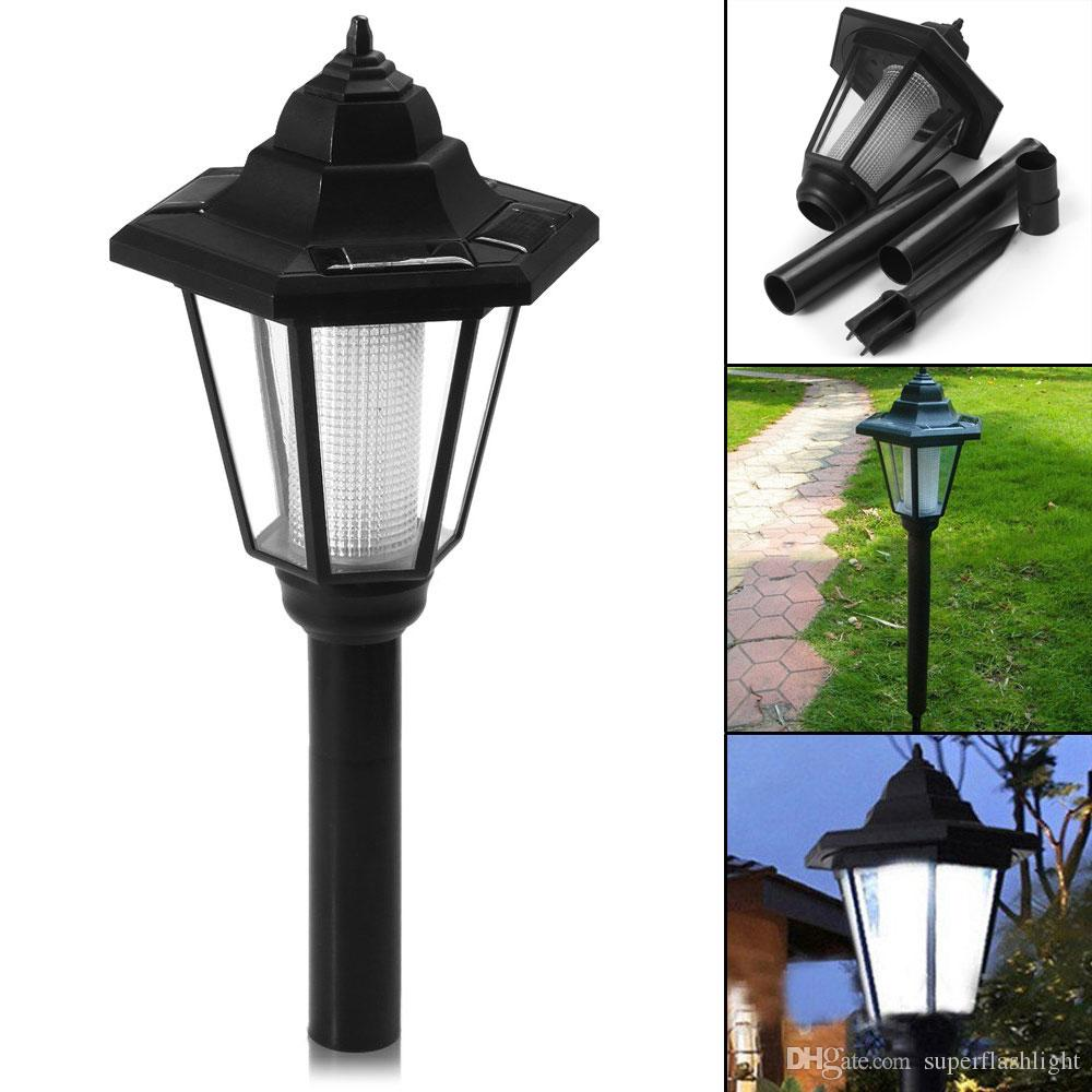 Solar Power LED Path Wall Landscape Mount Light Lamp Garden Fence Out Lighting