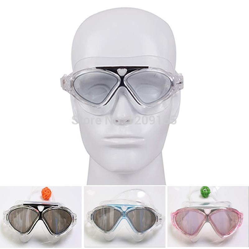 مكافحة الضباب الضباب كبير قابل للتعديل نظارات السباحة السباحة نظارات حماية من الأشعة فوق