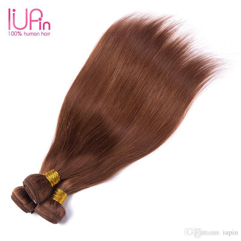 Мед Блондинка Волос Ткать 3 Пучка Бразильский Девственница Прямые Волосы Цвет # 30 Блондинка Человека Hiar Ткать Перуанский Малазийский Дешевые Наращивание Волос