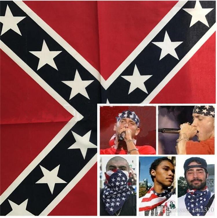 Neue Flagge Bandanas Bandanas Konföderierte Flagge Druck Bandana / Stirnband Masken für Erwachsene / Maske 200 ps / lot Kostenlose Rebellen-Partei Versand I095 KLNVB