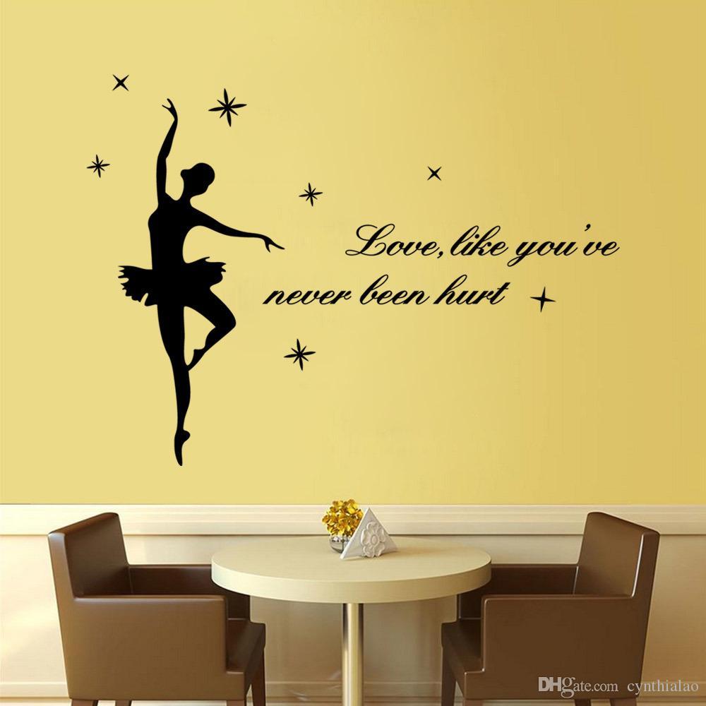Pvc Ballet Wall Stickers Art Quotable Decor Removable Ballerina ...