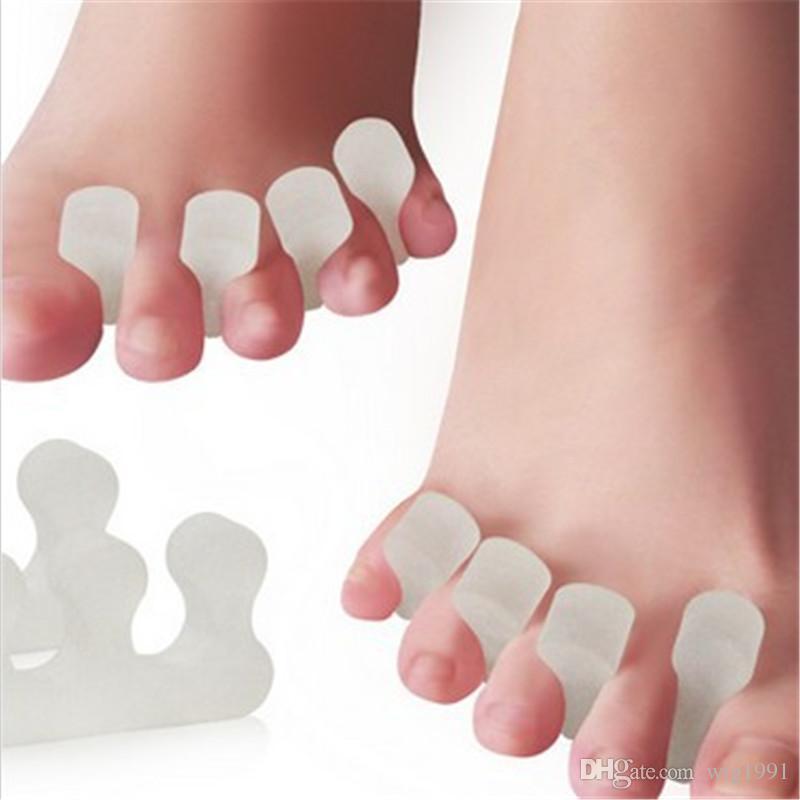 Wiederverwendbare Silikon Toe Separator Stretcher für Männer und Frauen Hallux Valgus Straighter Professionelle Fußpflege Bunion Silica Gel