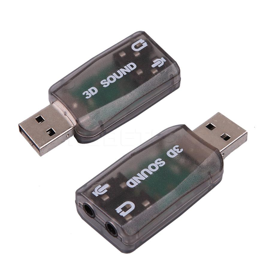 New USB 2.0 Audio Sound Card Adapter Virtual 5.1 Ch.