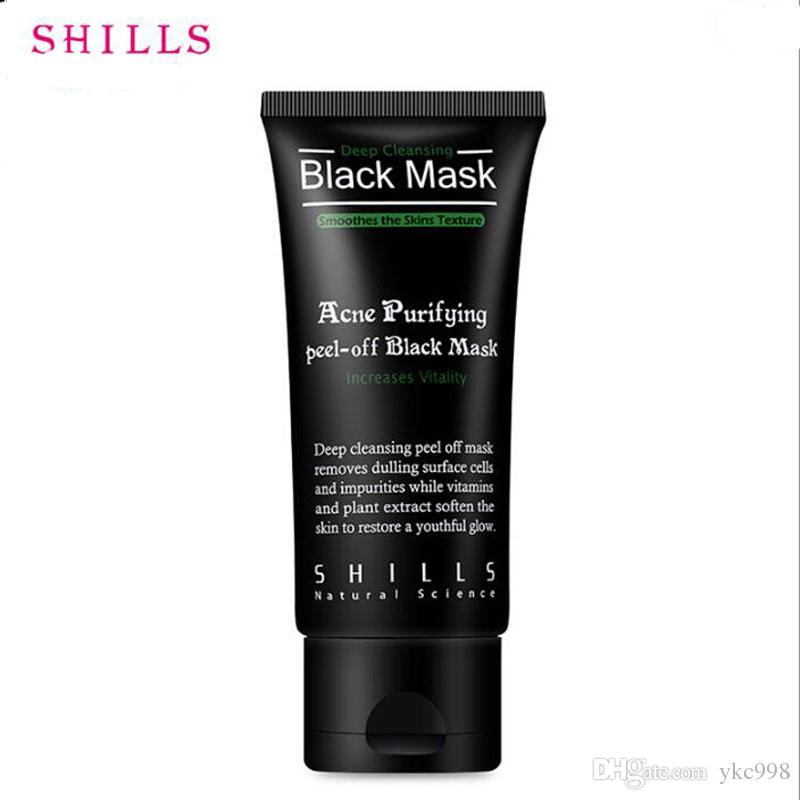 SHILLS Black Mask Blackhead Remover Deep Care Cleansing Peel Off Black Mud Mask Purifying Peel Acne Black Heads Remover Pore Facial Mask