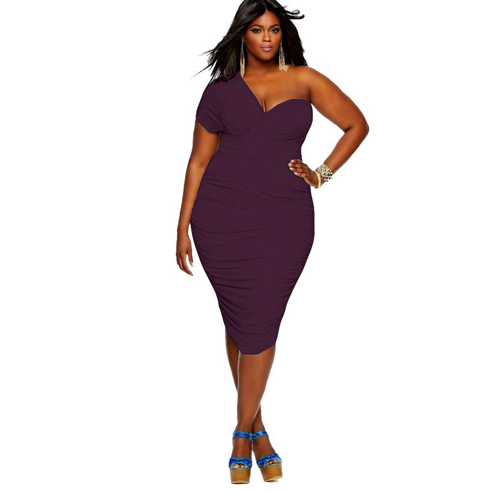 5 Off Shoulder Sexy Dress Women Fat People Oversized Dresses