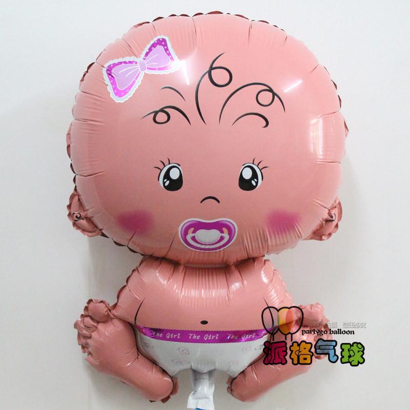 Toptan 50 adet / grup 49 * 70 cm Melek bebek balon Doğum Günü partisi dekorasyon Karikatür Erkek bebek balon helyum folyo balon Sıcak satış