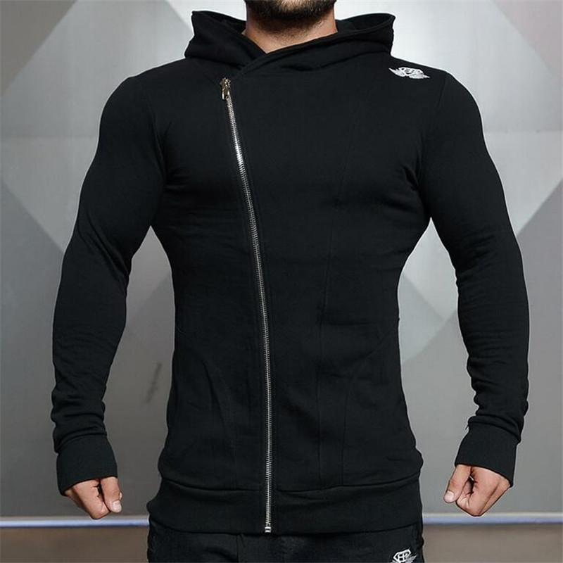 Toptan-Erkek Spor Salonları Hoodie Atlet Tişörtü Mens hoodies Stringer Vücut Geliştirme Fitness erkek hoodies Gömlek Casual hoodies