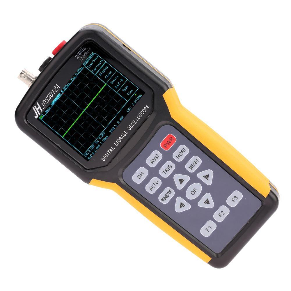 Freeshipping de mano de múltiples funciones digital 1 canal de osciloscopio portátil Alcance Meter 20MHz 200MSa / s lógica del multímetro de 4000 cuentas Analizador