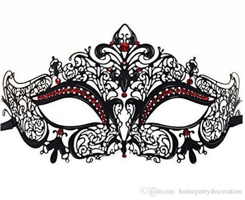 Luxury Venetian Prom Masquerade Mask His /& Her Laser Cut Mask Set Black