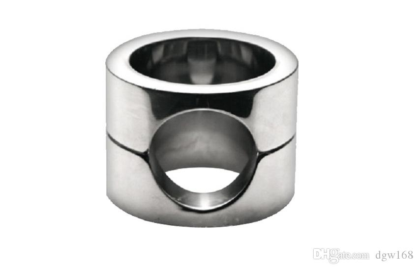 New Male Chastity Devices Stainless Steel Penis Cock Ring Delay Ejaculation Scrotum Bound Testis Load Ring Adult Sex Toy CR013