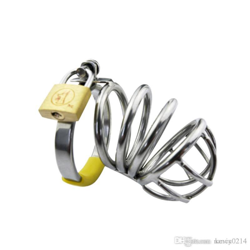 Stainless Steel Cock Cage Male Chastity Device Metal CB Penis Lock Chastity Cage Virginity Belt Sex Toy Sex Product for Men G107